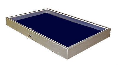 Aluminum Display Case Side Opening 22 x 34x3 1/4 Knives Cards Gun Jewelry & More