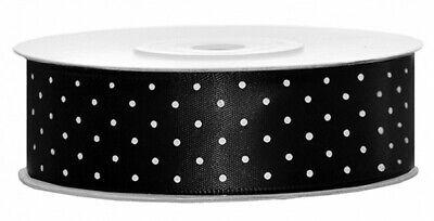 1-5m  Plain & Polka Dot * Cake Decorations Satin Ribbon Various 6~12~25~38~50mm 12