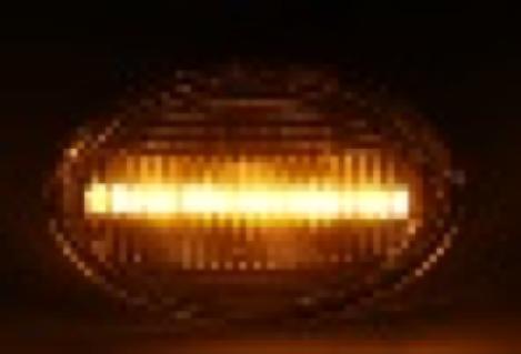 2 REPETIDORES LATERALES INTERMITENTES NEGRO LED para LANCIA YPSILON II 2003< 843 2