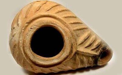 500AD Early Christian Palm Frond Lamp Roman Byzantine Judaea Israel Palestine 2