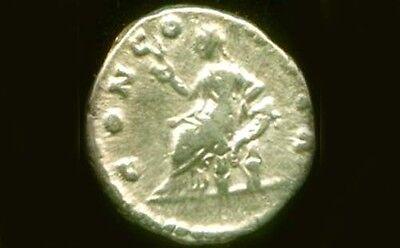 "AD161 Silver Roman Denari Empress Faustina Jr. + Goddess of Harmony ""Concordia"" 3"