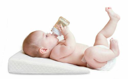 Baby Wedge Pillow Anti Reflux Colic Cushion For Pram Crib Cot Bed Flat Head Foam 2