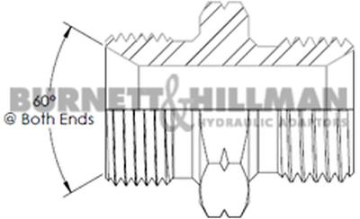 Burnett /& Hillman Métrique M10 Mâle X M12 Mâle 1.5mm Épaisseur Adaptateur 00426
