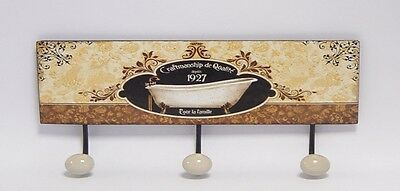 Antique Furniture Wandhaken Garderobe Motiv Schild Eisen Stilletto 33x13xcm Vintag Handtuch Halter