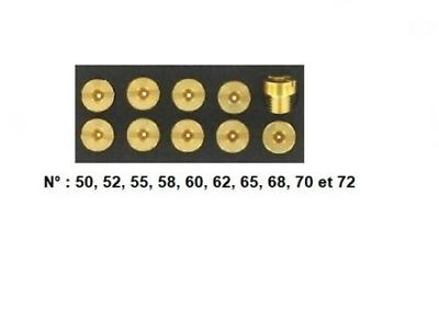 boite de 10 gicleur type dellorto SHA de 50 à 72 2