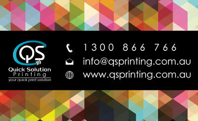 1000 Business Cards Colour Printing 2-sided on 420mic THICK paper + FreeDesign 4