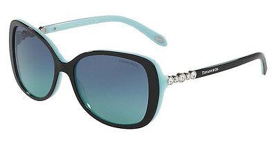 NWT TIFFANY & CO Sunglasses TF 4121B 80559S Black Blue / Gradient Blue 55 mm NIB