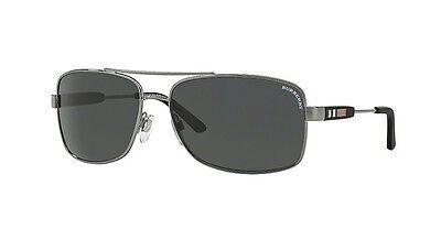 07ca31f38f32 ... NWT Burberry Sunglasses BE 3074 1003/87 Gunmetal / Gray 63 mm BE3074  100387 NIB