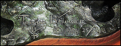 Truman Bolinger Original Bronce Escultura Firmado Occidental País Caballos Arte 3