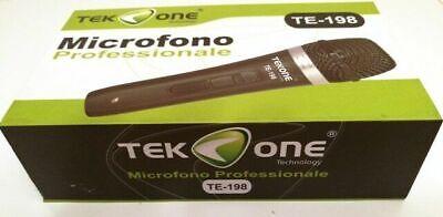 Microfono PROFESSIONALE Dinamico per Musica VOCE Karaoke Canto con CAVO Filo XLR 4