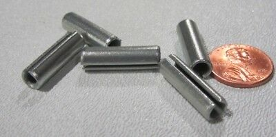 """Zinc Plate Steel Slotted Roll Spring Pin, 1/4"""" Dia x 7/8"""" Length, 100 pcs 2"""