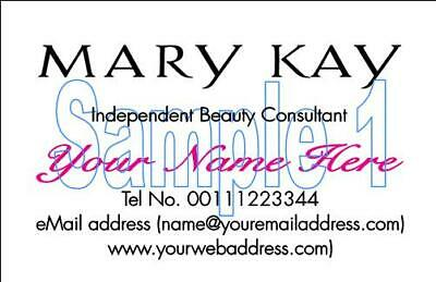 Personalised The Body Shop Mary Kay Oriflame NuSkin Consultant BUSINESS CARDS 50 2