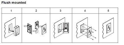2 Draht Bus System 4,3'' Video Türsprechanlage Fischaugen Kamera 5