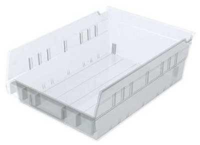 """Clear Shelf Bin, 11-5/8""""L x 8-3/8""""W x 4""""H AKRO-MILS 30150SCLAR 2"""