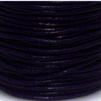Lederriemen,Lederband Rund 1,5mm bis 3,mm Echtes Leder Verschiedene Farbe 7