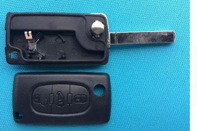 Peugeot Expert Partner 3 Van Centre Button Remote Flip Key Fob Case shell blade 3