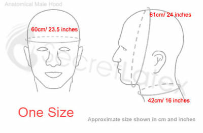 Latex Black Rubber Skin Gummi Hood Long Neck Gimp Fetish Anatomical Male Mask 2