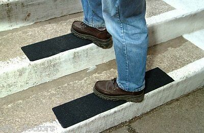 2 Of 7 Non Slip Stair Treads   Black Safety Anti Skid Tape High Traction  Indoor Outdoor