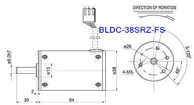 BLDC-38SRZ-FS 5000RPM 12V DC Geared Motor Brushless Constant speed motor