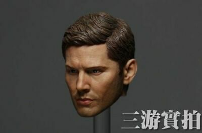 """Jensen Ackles Dean Winchester 1//6 Scale Handsome Male Head Carving F 12/"""" Figures"""