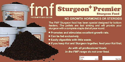 FMF Sturgeon Premier + Bottom Feeding Pond Fish Food Sinking 4kg  Tub 6 mm 3