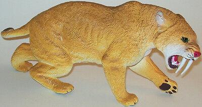 Aaa 35000 Large Saber Tooth Tiger Prehistoric Smilodon Model Toy Replica Nip 26 58 Picclick Uk