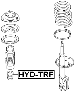 Front Spring Bumper Strut Shock Bump Stop FEBEST HYD-G OEM 54626-1C000