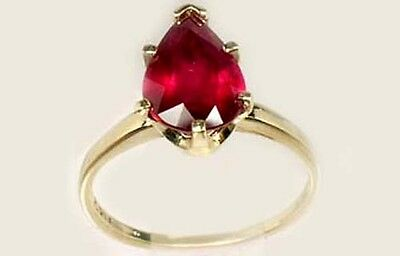 """19thC Antique 3ct Ruby Ancient Hebrew Israel Biblical """"Lord of Gems"""" Amulet 14kt 2"""