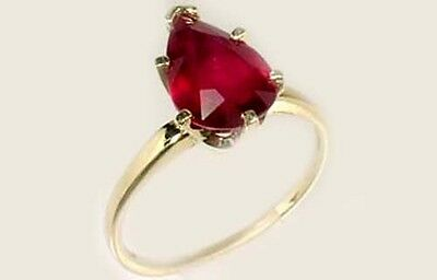 """19thC Antique 3ct Ruby Ancient Hebrew Israel Biblical """"Lord of Gems"""" Amulet 14kt 3"""