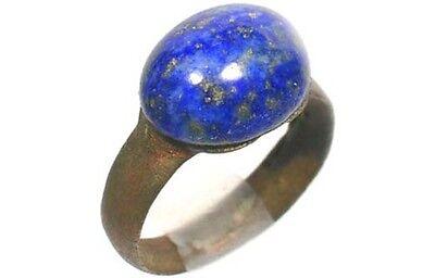 AD200 Roman Noricum (Austria) Child's Ring + Antique 19thC 3½ct Lapis Lazuli Gem 2
