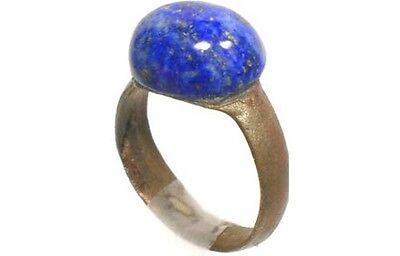 AD200 Roman Noricum (Austria) Child's Ring + Antique 19thC 3½ct Lapis Lazuli Gem 5
