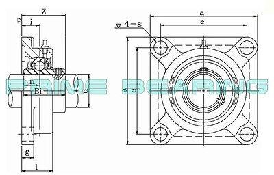HCFS207-35MM High Quality 35MM Eccentric  4-Bolt Flange Bearing  UGSLF207