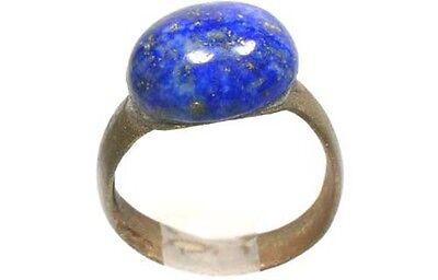 AD200 Roman Noricum (Austria) Child's Ring + Antique 19thC 3½ct Lapis Lazuli Gem 3