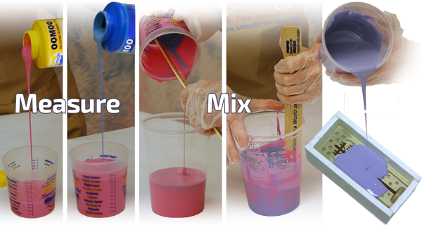 Liquid Silicone Rubber Compound Smooth On Oomoo Trial Kit 1.3kg/2.8lbs