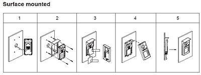 """2Familien 2 Draht Bus  7"""" Video Türsprechanlage Klingelanlage Sprechanlage 11"""