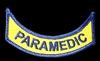 VA Virginia PARAMEDIC Rocker Patch Set of 2 Official Embroidered Emblem Patches