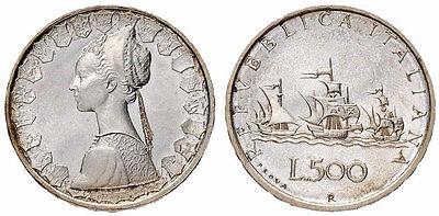 500 lire in Argento Caravelle '58 '59 '60 ( tutte miste ) 3