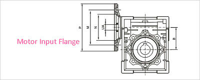 NEMA23-030 Worm Gear Speed Reducer NEMA23 Ratio 10 25 30 40 50:1 Stepper motor 5