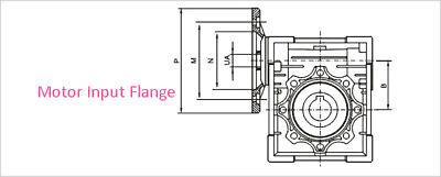 NMRV030 Worm Gear Reducer 56B14 Ratio 15 20 30 40 50:1 for Asynchronous Motor 7