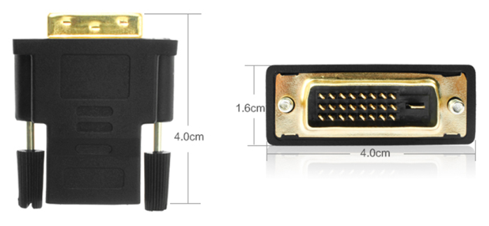 HDMI to DVI-D 24+1 Pin Monitor Display Adapter Cable Male/Male HD HDTV 2