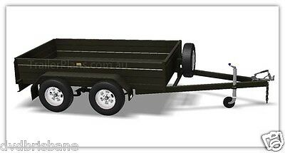 Trailer Plans - TANDEM AXLE BOX TRAILER PLANS - 3 sizes included - PLANS ON USB 4