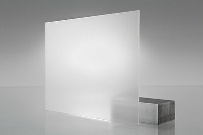 Frosted Acrylic Perspex Sheet Cut to Size Panel Plastic Matt Satin Opal Clear