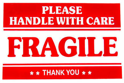 2 x 3 FRAGILE STICKER HANDLE WITH CARE STICKERS - - CLASSIC - - BUY 2 GET 1 FREE 2
