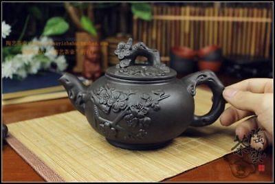 Kung Fu Pot Cup Set Chinese Porcelain Yixing Teapot Tea Pot 400ml + 3 Cups 60ml 2