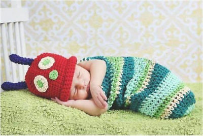 Newborn Baby Girl Boy Crochet Knit Costume Photo Photography Prop Hats Outfits 3