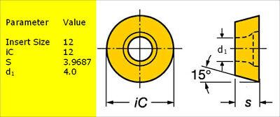 10 SANDVIK R390-180612M-PM Grade 4340 CNC Milling Coated Carbide Inserts