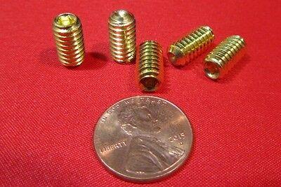 "Cup Point 1//4-20 x 3//8/"" Length Brass Set Screws 50 Pieces"