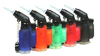 5 PACK Windproof 45 Degree Angle Jet Butane Torch Lighter Refillable Lighters 2