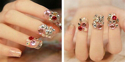2000 Choose Colour Crystal Flat Back Nail Art Face Festival Rhinestones Gems 10