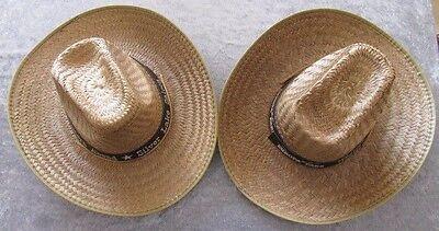MFH Stroh Hut Hutband braun schwarz Sommer Western Cowboy Kopfbedeckung